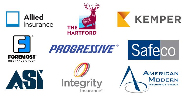 Allied, The Hartford, Kemper, Foremost, Progressive, Safeco, ASI, Integrity, American Modern